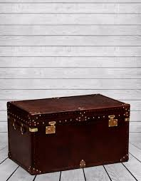brass trunk coffee table large brown leather brass trunk coffee table portess