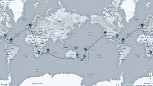 Saint Lucia Map Map London U2013 Mauritius Johannesburg U2013 Sydney U2013 Auckland U2013 Nadi