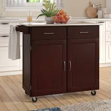 Stainless Steel Kitchen Bench Stainless Steel Benchtops Clic Andover Mills Southerland Large Kitchen Cart With Stainless Steel