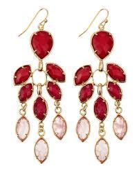 Red Chandelier Earrings Kendra Scott Flower Chandelier Earrings In Red Lyst