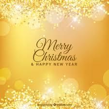 golden bokeh background of merry vector free