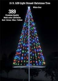 white christmas tree with multicolor lights flagpole christmas tree kit multicolor uncommon usa flagpole