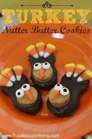turkey nutter butter cookies tutorial thanksgiving food craft
