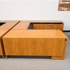 Used U Shaped Desk Used Halcon Right U Shaped Executive Office Desk Deu1570 006