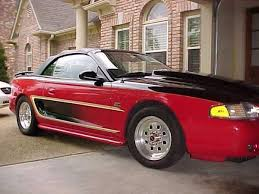 Mustang Red And Black 94 Gt Mustang Convertible Highly Modified For Sale Photos