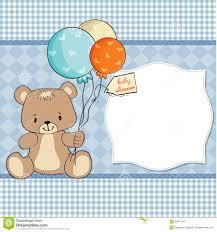 baby shower card with teddy bear stock photos image 24071973