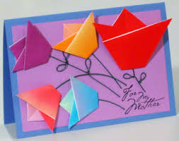 make a mothers day card with an origami twist