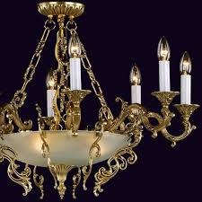 Art Nouveau Chandelier Antique Art Nouveau Chandelier Italian Old Gold Veneer Matt