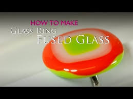 How To Make Fused Glass Jewelry - how to make a fused glass ring in a microwave kiln varios