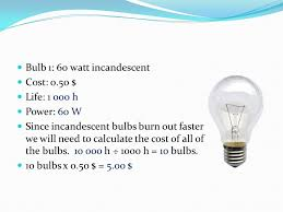 light bulb cost calculator electrical energy use in the home ppt video online download