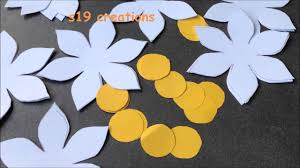 Hanging Flowers Wall Hanging Flowers With Papers Easy Diy Youtube