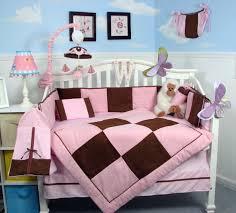 Soho Crib Bedding Set Soho Designs Bedding Sets Soho Pink And Brown Suede Baby Crib