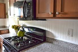 wainscoting backsplash kitchen beadboard wainscoting as backsplash cabinet back doityourself