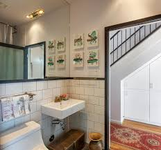 portland large subway tile bathroom farmhouse with clawfoot tub