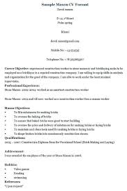 Construction Company Resume Sample Resume For A Construction Worker Collection Of Solutions