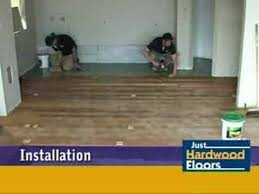 Installing Wood Floors On Concrete Just Hardwood Floors Timber Floor Installation Over Concrete Youtube