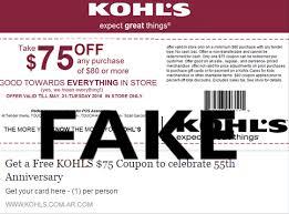 kohl s social media coupon scam kohl s coupon