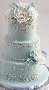 wedding cake pictures cake pale blue lace wedding cake 2561797 weddbook