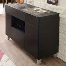 furniture dark sideboard buffet with glass door on cozy kahrs