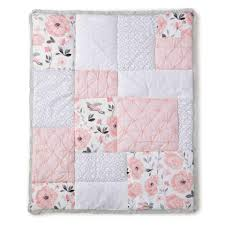 Babies R Us Canada Cribs by Levtex Baby Elise Grey And Pink Floral 5 Piece Crib Bedding Set