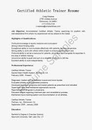 resume samples certified athletic trainer resume sample ot resume
