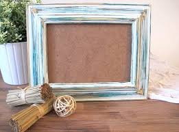rustic frame beach distressed frame green u0026 white wooden 5x7 photo