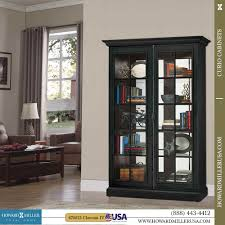 Home Design Concept Lyon Curio Cabinet Curio Cabinet Lyon In Distressed Wood Finish By