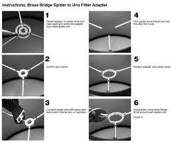 slip uno fitter l shade lsusa brass bridge spider to uno adapter 22116