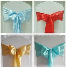 chair bows for weddings chair sashes new wedding craft decoration banquet sash craft for