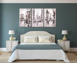 Home Decor Canvas Art by Unframe Home Decor Paintings Retro City Street Landscape Modular