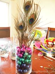 modern christmas centerpieces peacock centerpiece for a party or