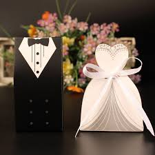 gift bags for wedding guests 100pcs lot wedding candy box laser cut mini kraft gift box