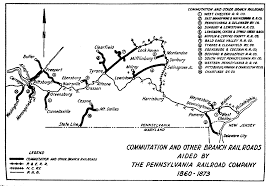 Western Pennsylvania Map by Prr Maps From The Centennial History