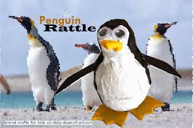 animal crafts for kids 3 penguin rattle daily dose of art