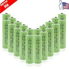 rechargeable aa batteries for solar lights 20x double a 800mah 1 2v nicd aa rechargeable battery for garden