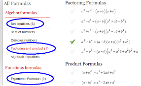 math formulas and cheat sheet generator for arithmetic and