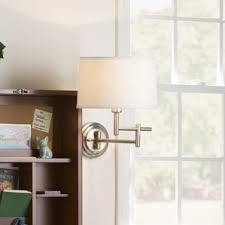 Swing Arm Wall Sconces For Bedroom Swing Arm Wall Lamps You U0027ll Love Wayfair