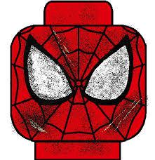 lego spiderman battle damaged face decal amazing spide u2026 flickr