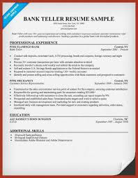 Teller Duties For Resume Teller Job Resume Image Amazing Teller Job Resume Ideas Simple