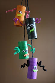 monster mobile toilet roll craft monsters crafts and preschool