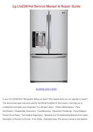 download free pdf for lg lfx25974st refrigerator manual