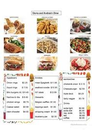 menu cuisine collective 126 free esl going to a restaurant worksheets