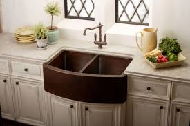Farmhouse Kitchen Faucet by Kitchen Elegant Copper Farmhouse Kitchen Sink With Brown Copper