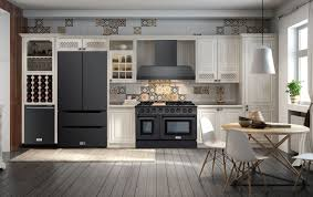 white kitchen cabinets and black stainless steel appliances what s the trend in kitchen appliances