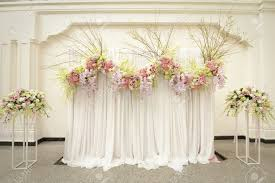 beautiful flower wedding decoration stock photo picture and