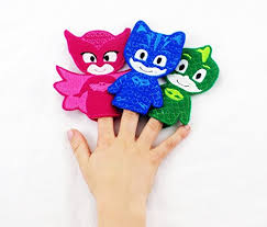 pj mask villain themed toy finger puppet 3 romeo night
