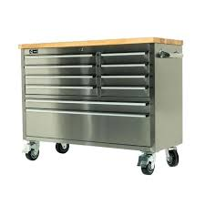 Tool Cabinet Wood 72 Inch Stainless Steel Tool Cabinet Tool Chest Wood Top Bench