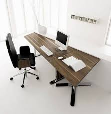 Futuristic Office Desk Wooden Futuristic Office Desk That Can Be Applied On The Grey