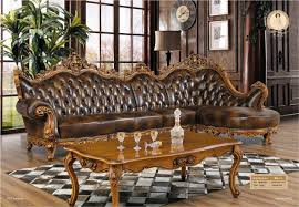 Classic Sectional Sofa Chaise Armchair Beanbag Style Set Antique No Genuine Leather