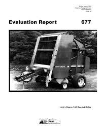 677 john deere 535 round baler 1992